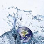 Planet Earth in Water Splash