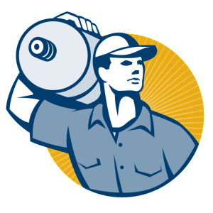 Water Delivery Man Illustration