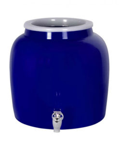 Blue Ceramic Crock