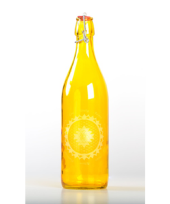 Citrine Elevated Glass Bottle