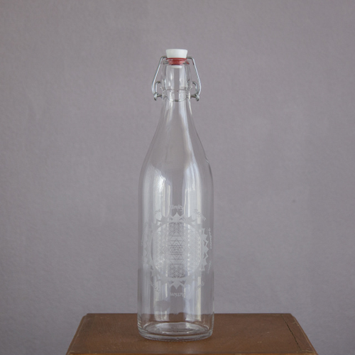 Diamond Elevated Glass Bottle